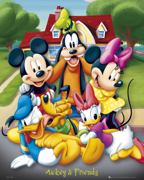 Mickey Mouse and friends Poster