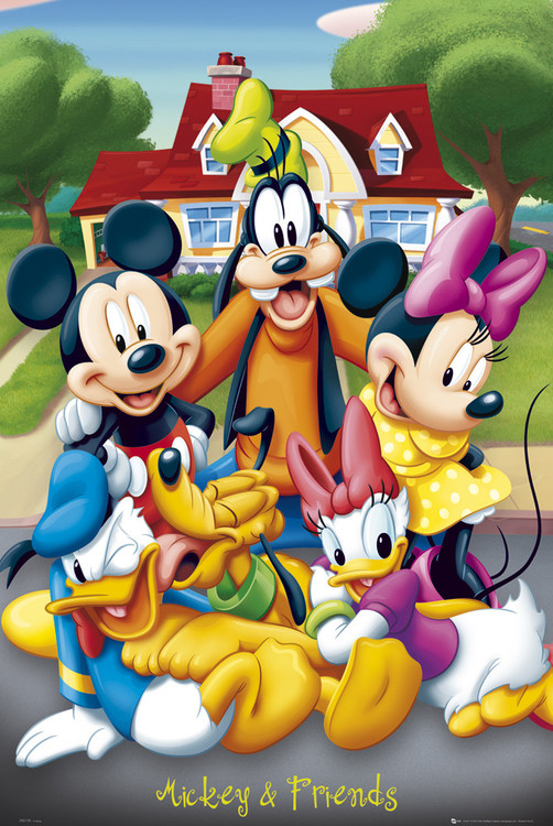 Mickey Mouse with friends Poster
