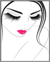 Lash extension beauty icon Poster encadré avec lamination