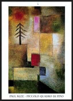 P.Klee - Piccolo Quadro Di Pino Poster encadré avec lamination