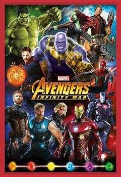 Avengers: Infinity War – Characters Poster encadré avec lamination