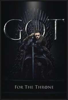 Game of Thrones - Jon For The Throne Poster encadré avec lamination