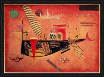 Wassily Kandinsky - Whimsical Poster encadré avec lamination