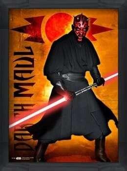 Poster encadré STAR WARS - darth maul