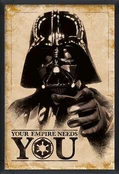Poster encadré Star Wars - Your Empire Needs You