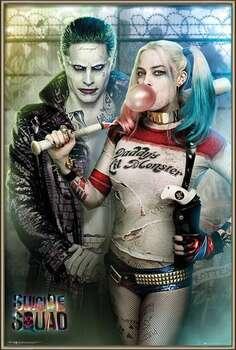 Poster encadré Suicide Squad - Joker and Harley Quinn
