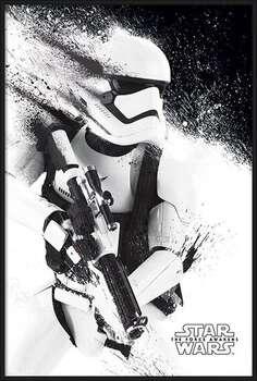 Poster encadré Star Wars Episode VII: The Force Awakens - Stormtrooper Paint