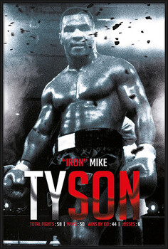 Poster encadré Mike Tyson - Boxing Record