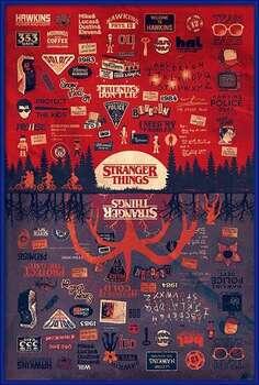 Poster encadré Stranger Things - The Upside Down