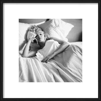 Poster encadré Marilyn Monroe - Bed