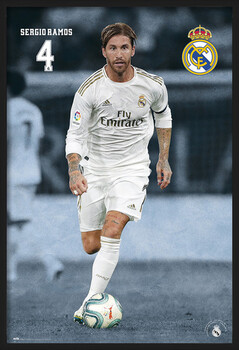 Poster encadré Real Madrid 2019/2020 - Sergio Ramos