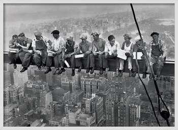 Poster encadré Lunch on a skyscraper