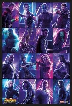 Poster encadré Avengers: Infinity War - Heroes