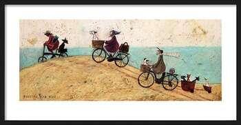Poster encadré Sam Toft - Electric Bike Ride