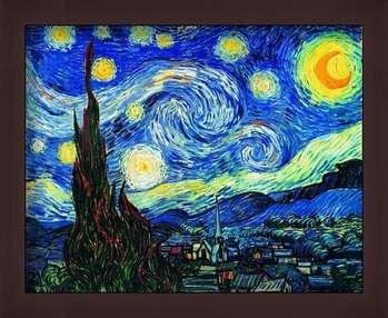 Poster encadré The Starry Night, June 1889
