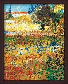 Poster encadré Flowering garden, 1898