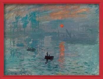 Poster encadré Impression, Sunrise - Impression, soleil levant, 1872
