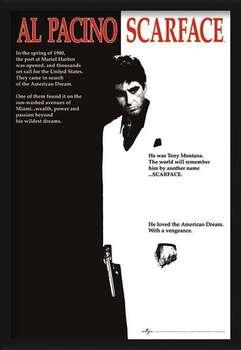 Poster encadré Scarface - movie