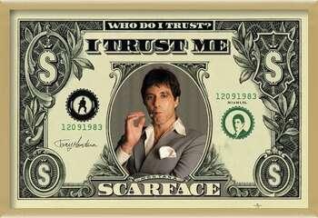 Poster encadré SCARFACE - dollar