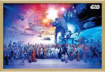Poster encadré Star Wars - Universe