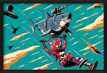 Poster encadré Fortnite - Laser Shark