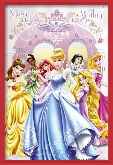 LES PRINCESSES DISNEY - glow within Poster