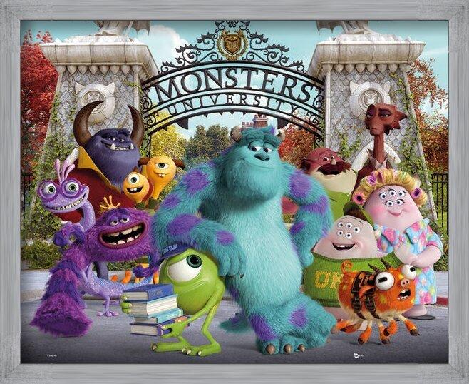 MONSTERS UNIVERSITY - cast Poster