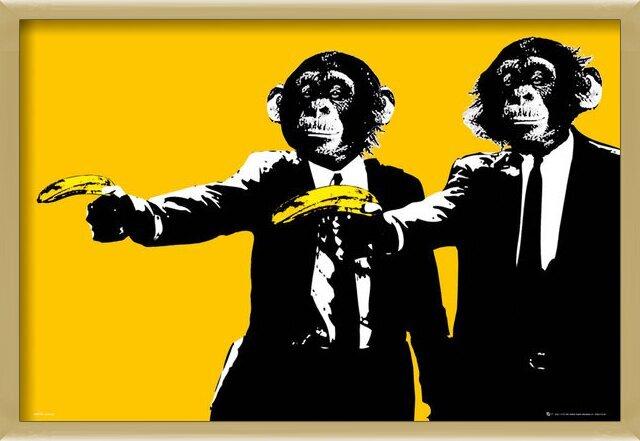 Monkeys - bananas Poster