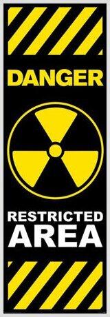 Danger - restricted area Poster