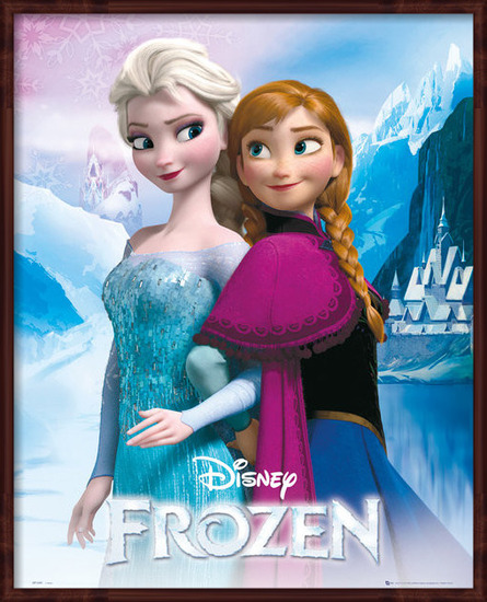 La reine des neiges - Elsa and Anna Poster