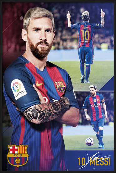 Barcelona - Messi collage 2017 Poster