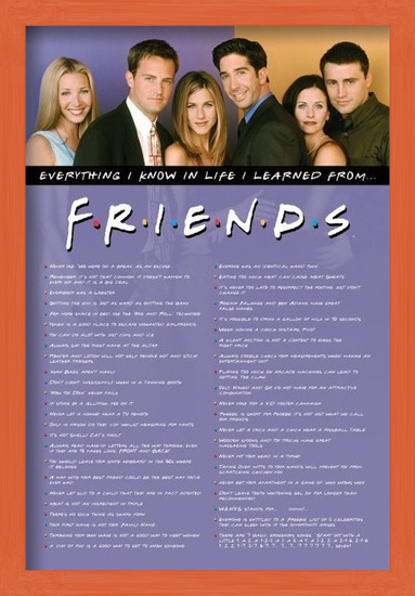 FRIENDS - everything i know Poster