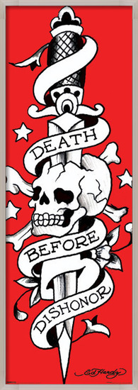 Ed Hardy - death before dishonor Poster